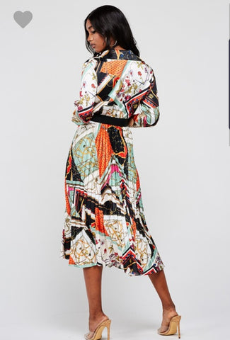 Lux Mix Print Dress