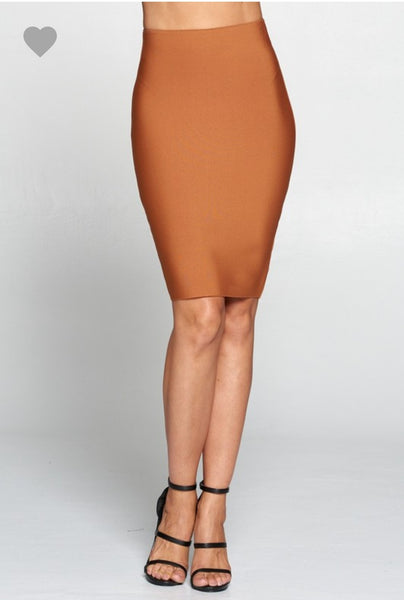 Dusty Rust Bandage Skirt