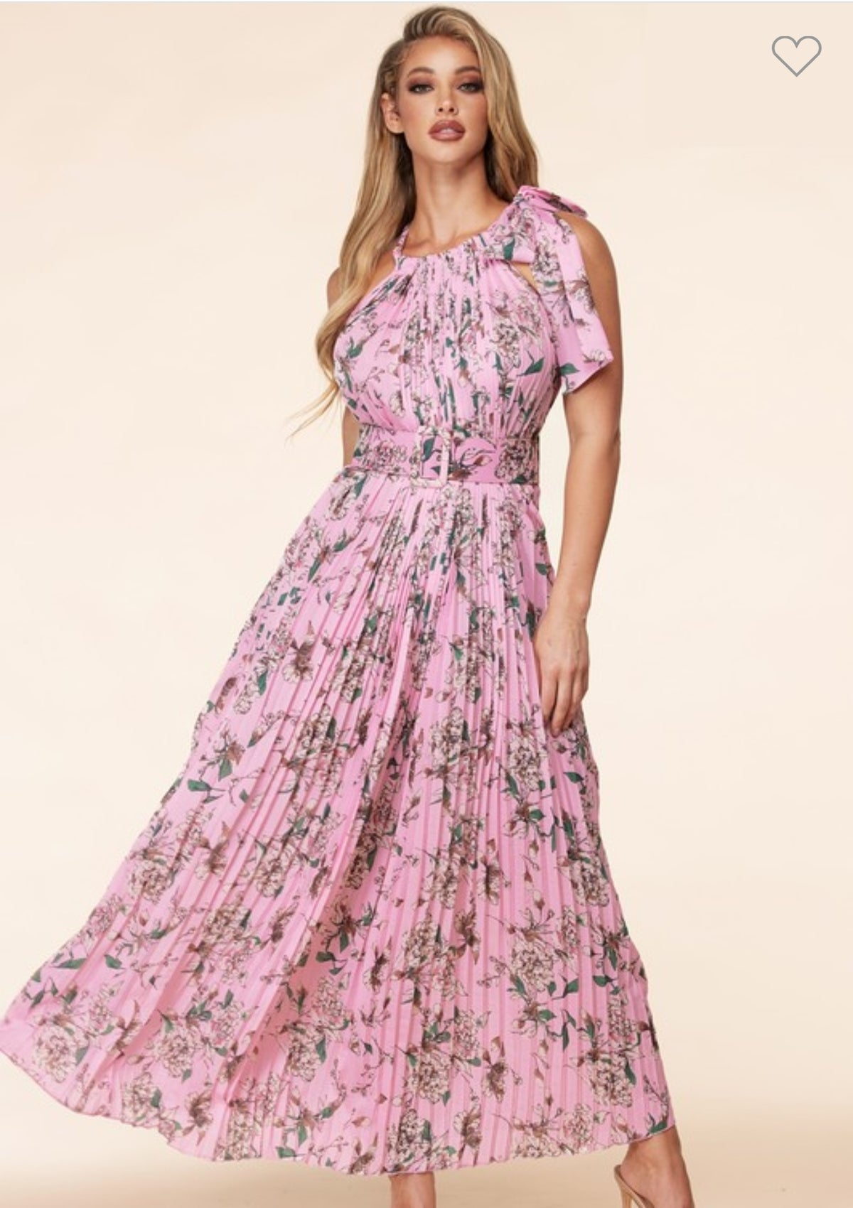 LADY LIKE PINK FLORAL DRESS