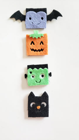 Square Spooky Friends