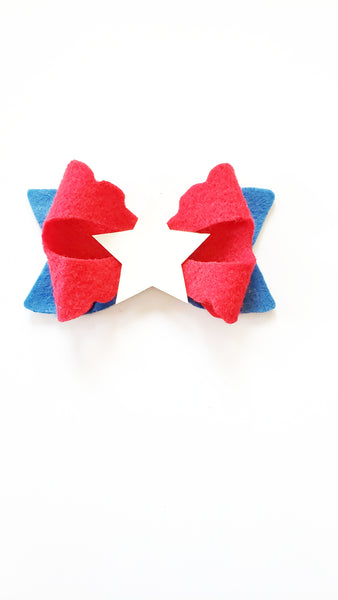 Patriotic Betty Bow with Color Change Center