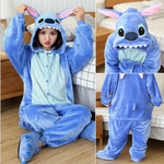 Gacloz   Adult Animal Cartoon Pajamas Men And Women Cosplay Party One-Piece Suit