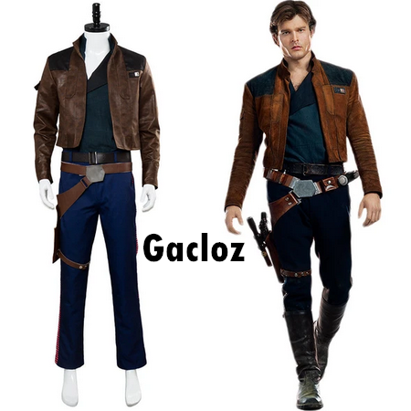 Gacloz     Star Wars Han Solo Cosplay Costume Suit Uniform