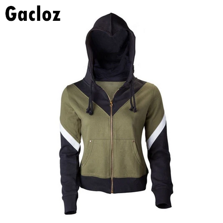 Gacloz     Adult The Legend of Zelda  Logo Cosplay Hoodie Zipper Jacket Coat Costume