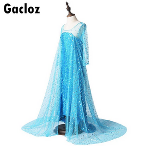 Gacloz   Kid Girl Prnicess Dress Elsa Costume Party Dress Cosplay Dress up