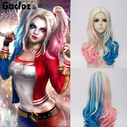 Gacloz    Suicide Squad Harley Quinn Wigs