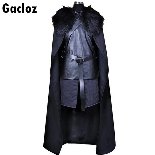 Gacloz  Game of Thrones Mens Jon Snow Costume Cosplay Fancy Dress