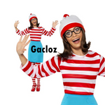 Gacloz     Where's Wally Wenda Female Womens Ladies New Fancy Dress Costume