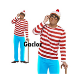 Gacloz    Where's Wally Wenda Male Man  New Fancy Dress Costume