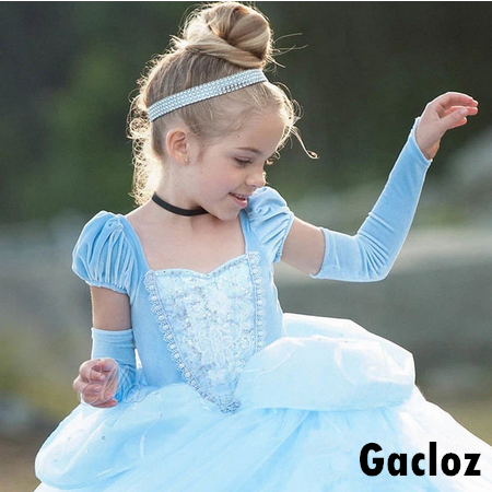 Gacloz   Kid Girl  Disney Princess Dress Cinderella Costume Girls  Party Fancy Dress Cosplay