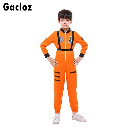 Gacloz   Kid aviation clothing space flight suit costume - Orange