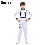 Gacloz  Kid aviation clothing space flight suit costume - White