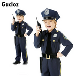 Gacloz   Kid Boys Police Officer Costume US Cop Child Fancy Dress Classic Uniform Outfit