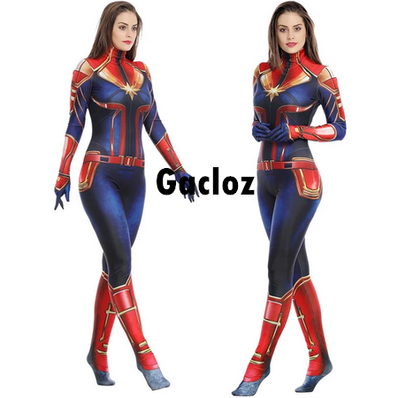 Gacloz   Marvel Heroes Adult Lady Captain Marvel Costume