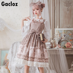 Gacloz   Lolita Lace Dress - DarkKhaki