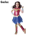 Gacloz   Kid girl Wonder Woman  Superhero Fancy Dress Costume