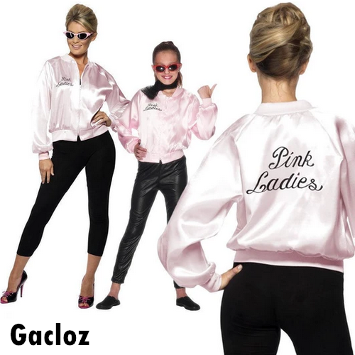 Gacloz   Pink Ladies Jacket Woman Girls Fancy Dress Costume