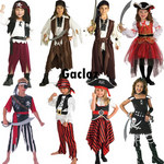 Gacloz   Kids Outfit Caribbean  Pirate Boys Fancy Dress Costume Girls Buccaneer