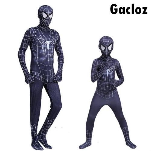 Gacloz   Marvel Heroes:SpiderMa Mens&Boys Black Red Fancy Dress cosplay Costume