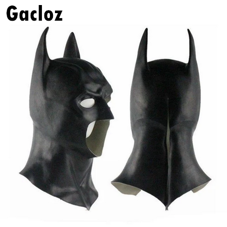 Gacloz  Adult Full Mask Cowl Batman The Dark Knight Rises Cosplay Halloween Fancy Prop