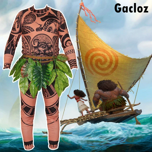Gacloz   Adult Kid Disney Moana  Maui  Halloween  Mens  Boys Cosplay Costume
