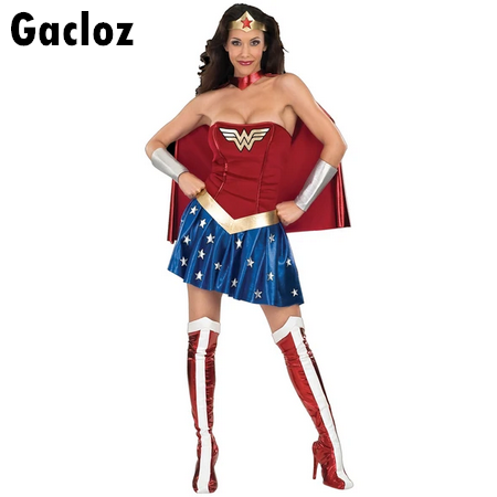 Gacloz  Adult Lady Wonder Woman Cosplay Costume