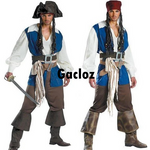 Gacloz   Adult Mens Pirate Of The Caribbean Captain Jack Costume