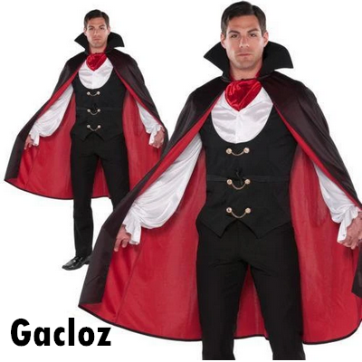 Gacloz  Adult Mens Vampire Costume Dracula True Fancy Dress costume
