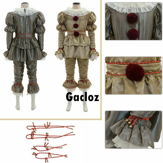Gacloz  Adult Pennywise Costume Cosplay Man Fancy Costume