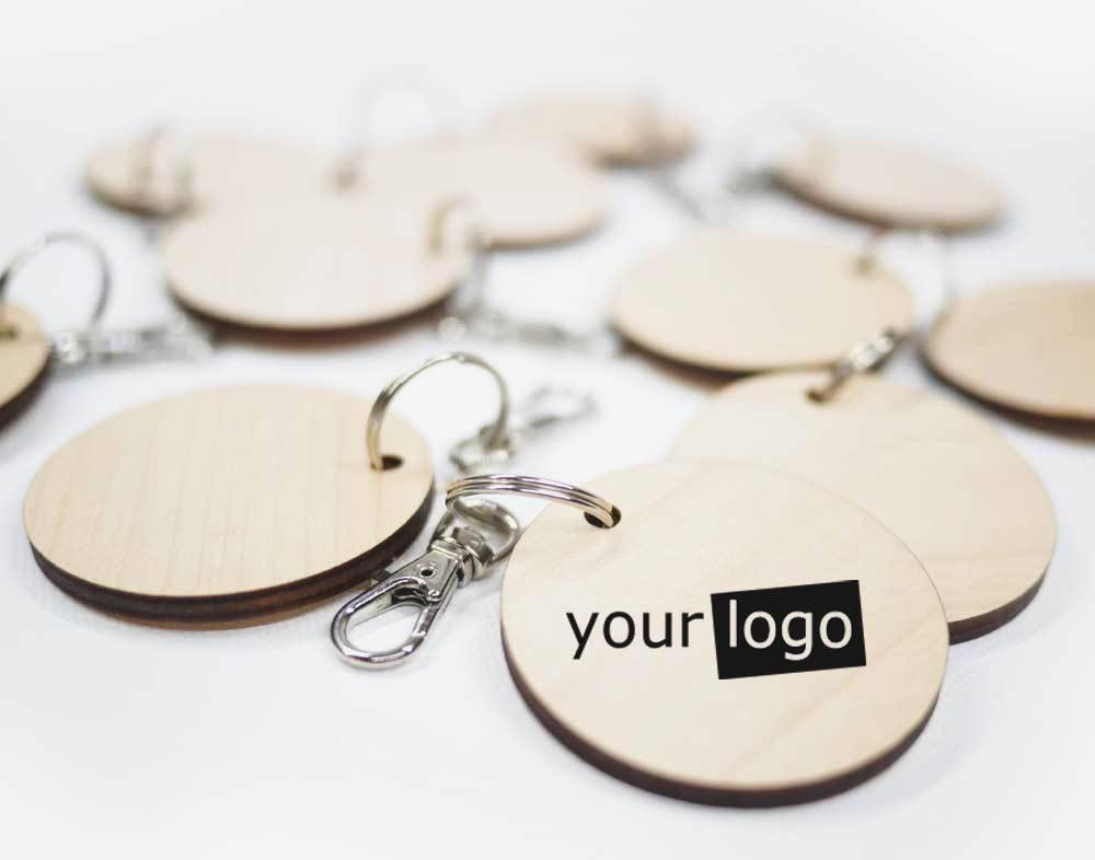 Branded Scandi Timber Keyrings