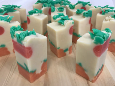 Peach Tall Soap Bars