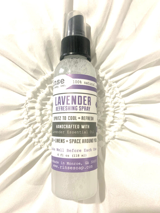 4 ounce bottle of 100% natural lavender spray.