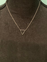 Load image into Gallery viewer, Sterling Silver Triangle Necklace