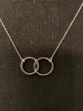 Load image into Gallery viewer, Sterling Silver Double Circle Necklace