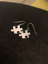 Load image into Gallery viewer, Sterling Silver Puzzle Earrings