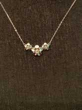 Load image into Gallery viewer, Sterling Silver Triple Plumeria Necklace