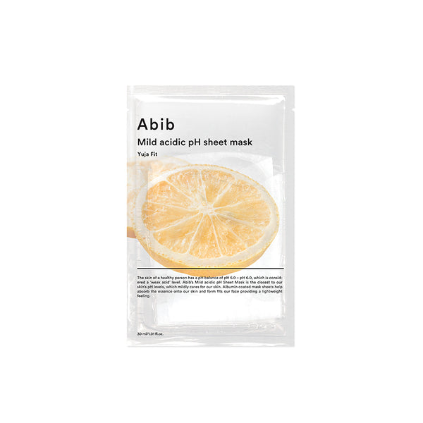 Mild Acidic pH Sheet Mask - Yuja Fit