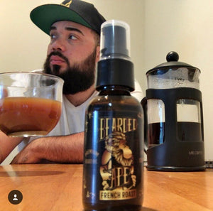 French Roast Scent Premium Organic Beard Oil - 100% Natural-Soften, Relax, and Condition