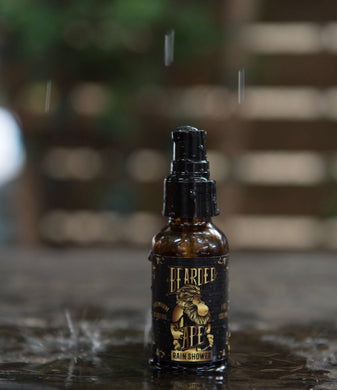 Rain Shower Scent Premium Organic Beard Oil - 100% Natural-Soften, Relax, and Condition