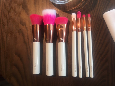 Full set of face & eye makeup brushes