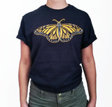 Womens-Animal-Vintage-Monarch-Butterfly-T-Shirt-Wildlife-Wardrobe