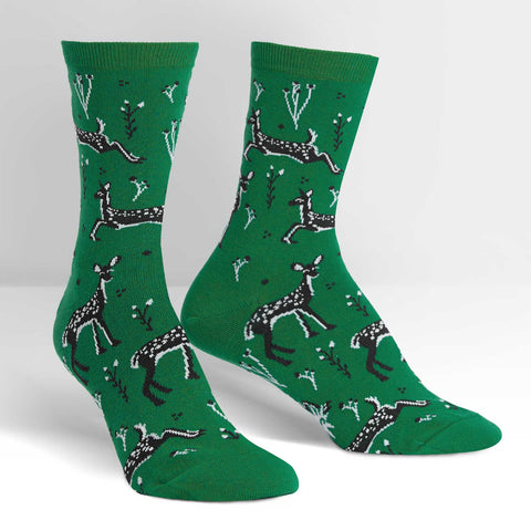 Dainty-Deer-Novelty-Crew-Animal-Socks-for-Men-and-Women-Wildlife-Wardrobe