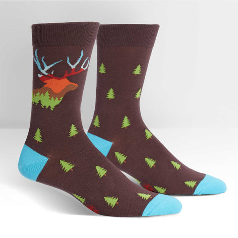 Enchanting-Deer-Elk-Novelty-Crew-Animal-Socks-for-Men-and-Women-Wildlife-Wardrobe