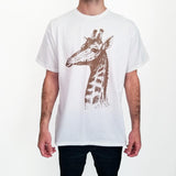 Mens-Animal-Vintage-Realistic-Giraffe-T-Shirt-Wildlife-Wardrobe