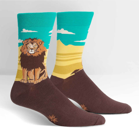 Legendary-Lion-Novelty-Crew-Animal-Socks-for-Men-and-Women-Wildlife-Wardrobe