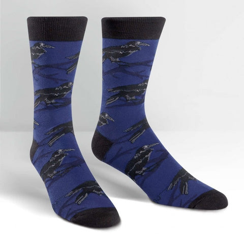 Raven-Bird-Novelty-Crew-Animal-Socks-for-Men-and-Women-Wildlife-Wardrobe