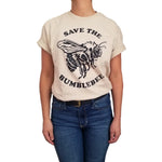 Womens-Animal-Vintage-Save-The-Bumblebee-T-Shirt-Wildlife-Wardrobe