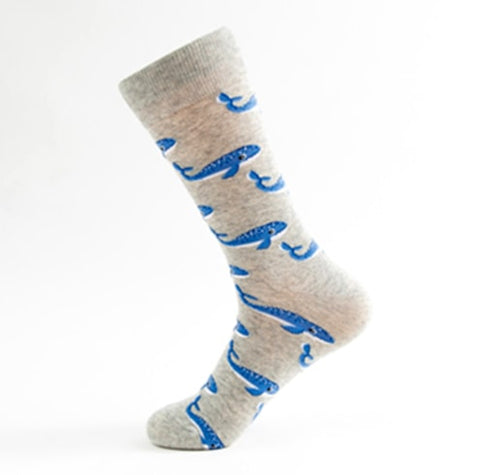 Bubbly-Blue-Whale-Novelty-Crew-Animal-Socks-for-Men-and-Women-Wildlife-Wardrobe