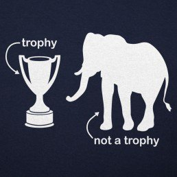 Animal-Vintage-Elephant-Not-A-Trophy-T-Shirt-Wildlife-Wardrobe