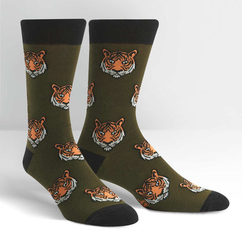 Tiger-Novelty-Crew-Animal-Socks-for-Men-and-Women-Wildlife-Wardrobe